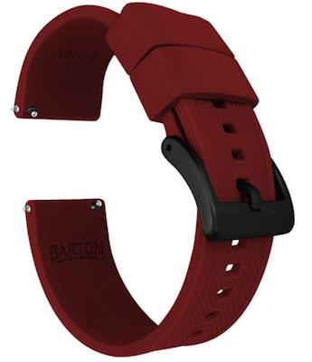 Barton Elite Red Silicon strap for Samsung Galaxy watch