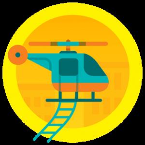 Helicopter Lifetime Floor badge