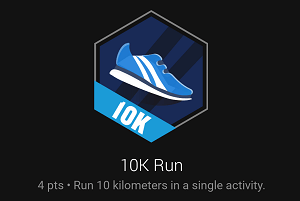 10K Run badge