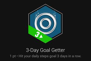 3- Day Goal Getter badge