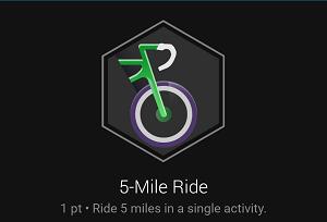 5-Mile Ride badge