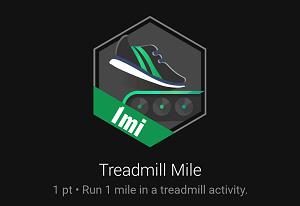Treadmill Mile badge