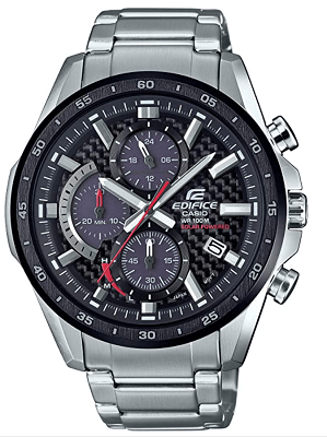 Casio Men's Edifice Quartz Watch With Stainless Steel Strap