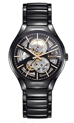 Rado men's True Open Heart black Ceramic Watch