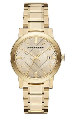 Gold Burberry watch BU9033