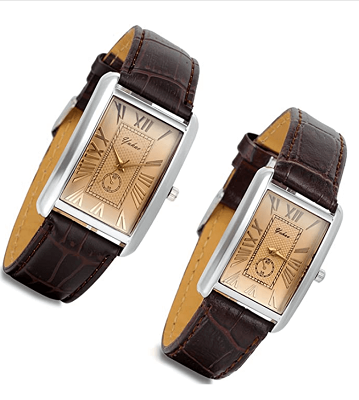 Affordable rectangle couple watch