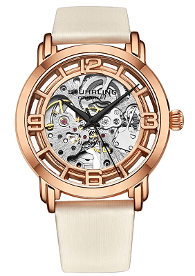 Stuhrling leather watch for women