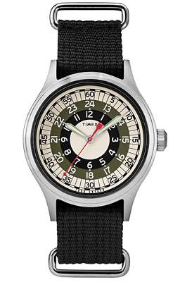 Timex 24 hour watch face