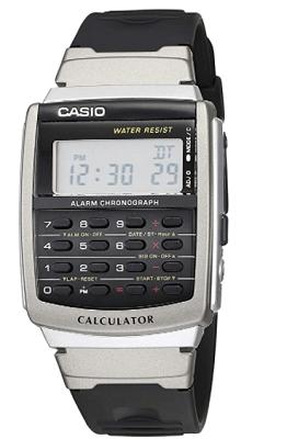Casio watch with calculator