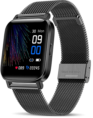 cheap smartwatch with metal strap