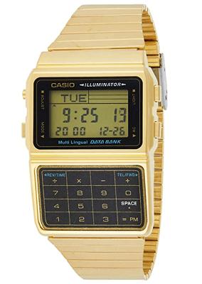 gold tone casio watch
