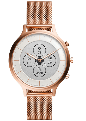 ladies smartwatch with metal band