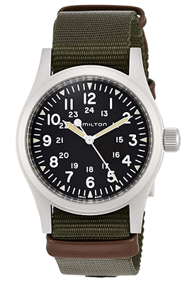 mechanical watch with NATO strap