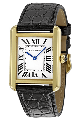 Cartier Women's tank watch solo black