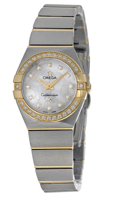 Omega Constellation white mother of pearls