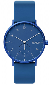 Skagen Aaren Colored Silicone Quartz 41mm watch