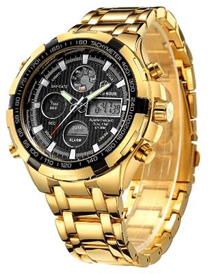 Ana Digi gold watch men's
