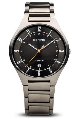 Bering Men's titanium strap watch