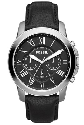 Fossil watch with mineral glass