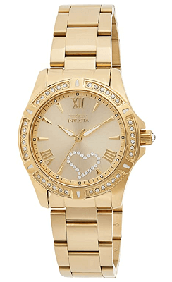 Invicta women's angel watch with heart on dial