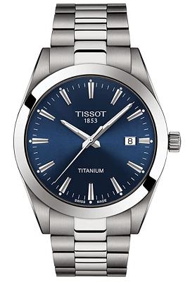 Tissot men's gentleman titanium bracelet watch