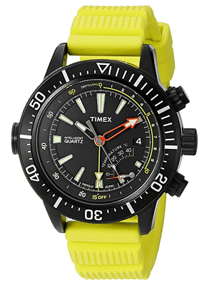 affordable Timex dive watch with depth gauge