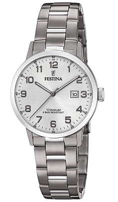 budget Festina womens titanium watch