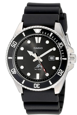 casio watch with sweeping second hand