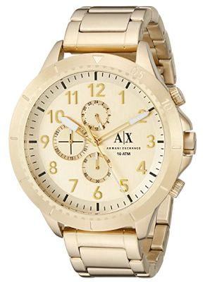 armani gold watch