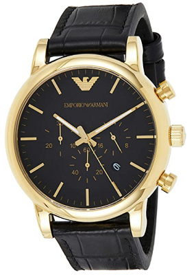 Affordable armani watch with chronograph